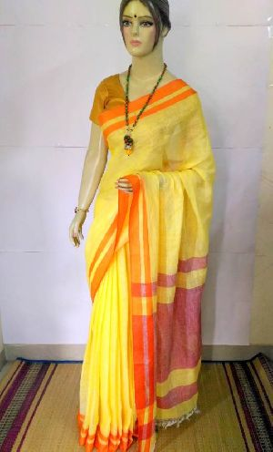 Pure Linen Saree 02
