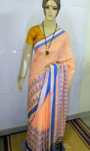 Pure Linen Saree 03
