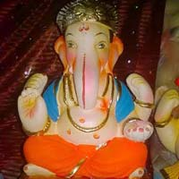 Colored Clay Ganesh Statues 02