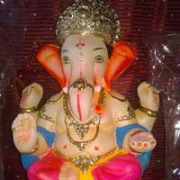 Colored Clay Ganesh Statues 15