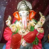 Colored Clay Ganesh Statues 17