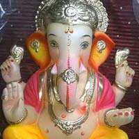 Colored Clay Ganesh Statues 20