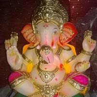 Colored Clay Ganesh Statues 22