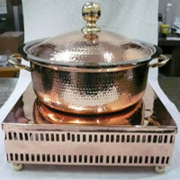 Copper Chauffing Dish Live Station Kwality