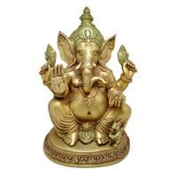 Brass Sitting Ganesha Statue
