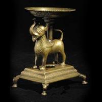 Brass Elephant Diya