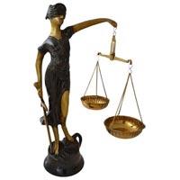 Brass Goddess Of Justice Statue