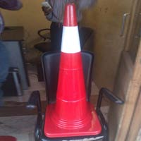 Road Safety Cone with Single Radium Sticker