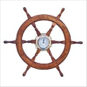 Authentic Nautical Ship Wheel Clock