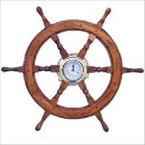 Maritime Nautical Ship Wheel Clock
