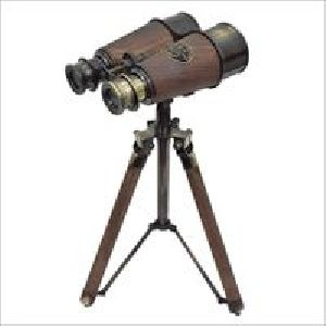 Nautical Antique Binocular With Stand