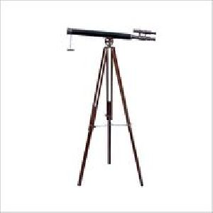 Nautical Telescope Black Lether With Stand