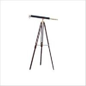 Royal Nautical Telescope Brass Finish Black Tripod