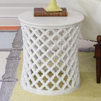 Marble Arabesque Side Table