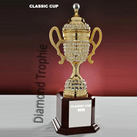 Diamond Beaded Cup Trophy