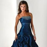 Dark Blue Party Wear Gown