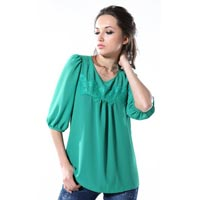 Ladies Green Top