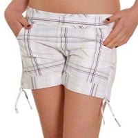Ladies White Short