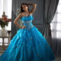 Light Blue Party Wear Gown