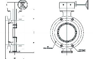 Double Flanged Offset Disc Butterfly Valve 02