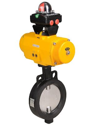 Pneumatically Actuated Butterfly Valve