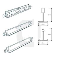 Exposed TEE Grid Suspension System (T-24)