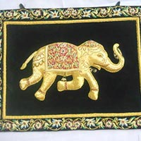 Zari Hand Embroidered Elephant Wall Hangings