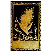 Zari Embroidered Peacock Wall Hanging
