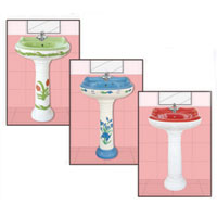 Vitrosa Series Pedestal Wash Basins