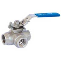 3 and 4 Way Screwed Ball Valve