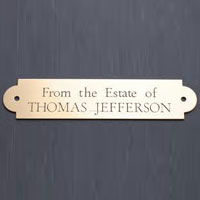 Brass Name Plate 01