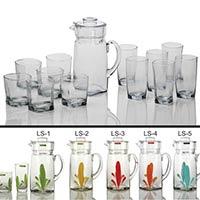 13 Piece Glass Lemonade Set