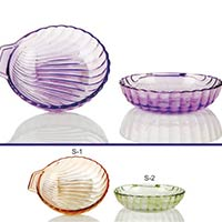 2 Piece Glass Snack Plate Set
