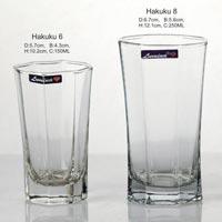 3 Pieces Glass Plain Water Tumbler