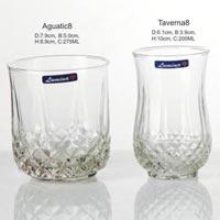 4 Pieces Glass Plain Water Tumbler