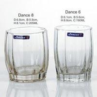 5 Pieces Glass Plain Water Tumbler