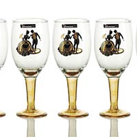6 Pieces Glass Wine Tumbler