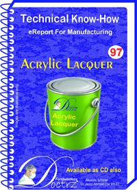 Acrylic Lacquer Formulation (eReport)