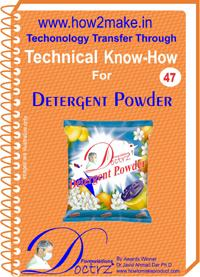 Detergent Powder Formulation (eReport)