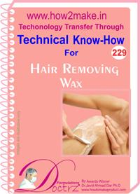 Hair Removing Wax Formulation (eReport)