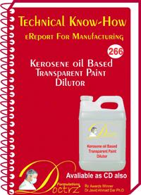 Kerosene Oil Based Transparent Paint Dilutor (TNHR266)