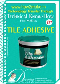 Tile Adhesive Formulation (eReport)