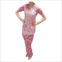 Ladies Half Sleeve Night Suit