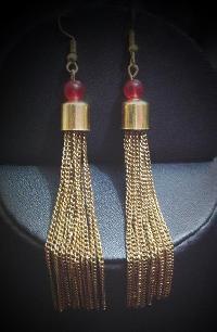 Chain Tassel Earrings 01
