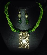 Crystal Metal Necklace Set