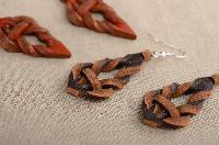 Ladies Leather Earrings 01