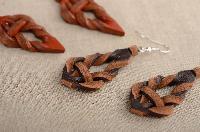 Ladies Leather Earrings
