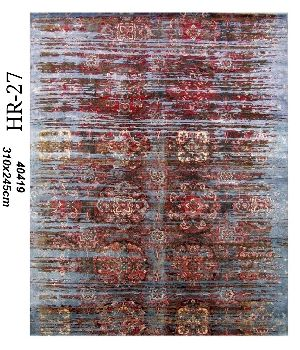 Hand Knotted Indo Tibetan Carpet 17