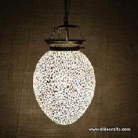 Glass Metal Pendant Lights (Egg)