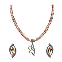 American Diamond Pendant Set 14